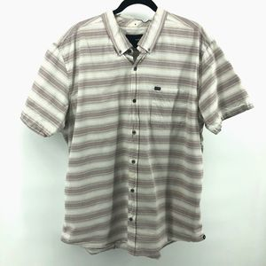 Hurley Striped Button Down Casual Shirt